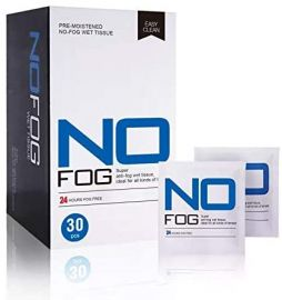 ****NEW SPECIAL PRICE **** No Fog Anti Fog Wipes - 50 packs of 30 wipes